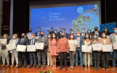 Eva Funes, asiste al Acto de Reconocimientos «Ciudades Amigas de la Infancia»